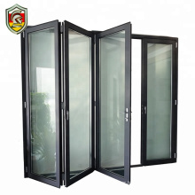 Accordion clear tempered glass folding door garden bifold doors aluminum front door