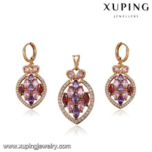 64231 Xuping Fashion Gold Plated Jewellery Sets With Zircon