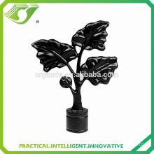D-S0022 New home decorative metal leaf black design curtain rod finials