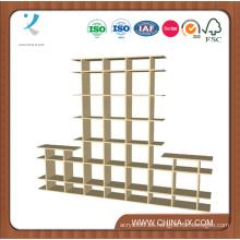 Soportes de exhibición de madera de 2 niveles de 8 'de ancho