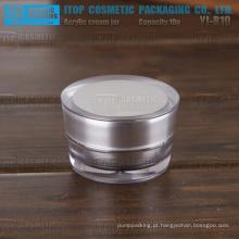 YJ-R10 10g vazia limpa e transparente mini camadas dobro 10g acrílico jar