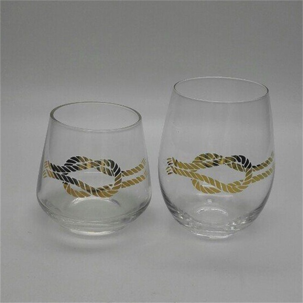 Stemless Wine Tumbler Glass Set 16oz1