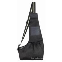 Cross-border new cat and dog soft bag pets travel black breathable mesh crossbody pet backpack