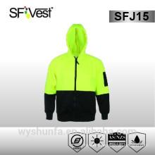 100% polyester 300D oxford AS/NZS warning hi vis clothing winter jacket