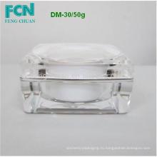 Модная косметическая прозрачный акриловый крышка корпуса цеха 10 мл крем jar пластиковые 50 мл Тайвань