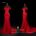 HEISSER China-Lieferant Chinesisch besticktes Charmeuse-Meerjungfrau-Abendkleid