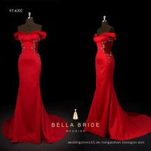 2017 neue Design Hülle Silhouette rot Charmeuse Abendkleid