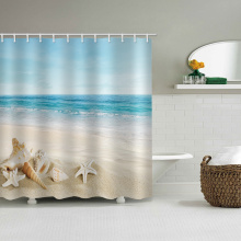 Zeester Conch waterdicht douchegordijn Blue Sea Beach badkamer Decor