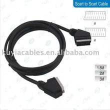 5 Ft 1,5 m Scart para cabo Scart M / M para DVD TV preto
