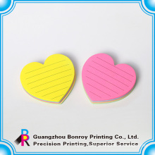 Chinese supplier hear shape customized mini notepads printing for bulk sales