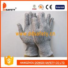 13G Hppe Spandex Nylon Mixed Cut Guante resistente Dcr103