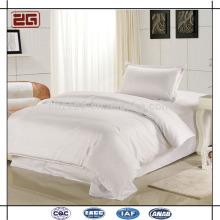 Tecido de seda de algodão de alta qualidade 300TC White Custom Hotel Royal Bedding