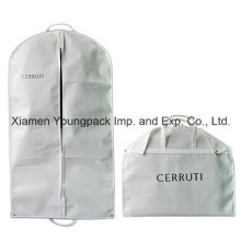 Custom Printed White Suit Travel Garment Cover Bag