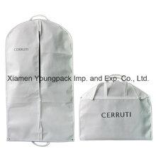 Custom Printed White Suit Travel Garment Cover Bag