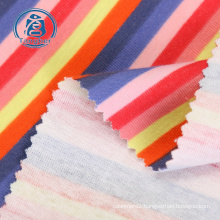 Cheap price cotton stripe jersey knit fabric