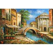 Wand-Kunst-Dekor-Impressionist-Venedig-Ölgemälde (EVN-084)