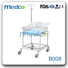 B008 stainless steel hospital use baby bassinet