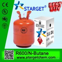 N-butano-R600 99,9% de gás refrigerante de pureza R600A