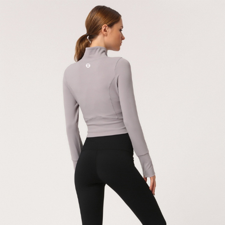long sleeve yoga crop top hoodie (8)