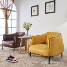 Nordic Style Cafe Reception Leather Chair