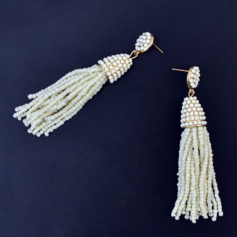 simple beaded earrings