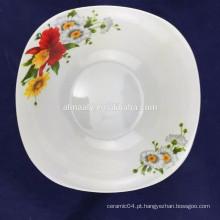 Forma quadrada da bacia de salada da porcelana fina de 8 polegadas