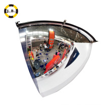 90 degress anti-theft quarter dome mirror used for shop
