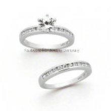 Bague en argent sterling Fashion Couple Ring (R7052)