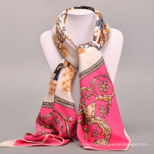 Fashion hot style flower pattern fine craft soft women neckcloth large square scarf