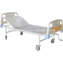 Cama de hospital de cigüeñal simple con el tablero perforado de la cama de la hoja laminada en frío