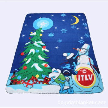 Plüsch Polar Fleece Throw Printing Decken
