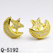 Pendientes de plata de la estrella de los diseños calientes de la fábrica de la fábrica (Q-5192)