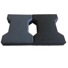 anti - slip outdoor dog bone shape rubber tiles paver for walkway park yard floor garden