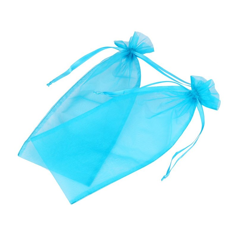 blue organza bag