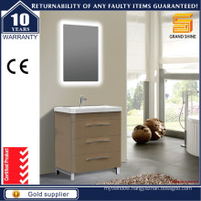 Modern Small Size Floor Standing Bathroom Vanities with Light Mirror
