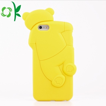 Cute Yellow Bear Telefon Kes Lembut silikon Shell