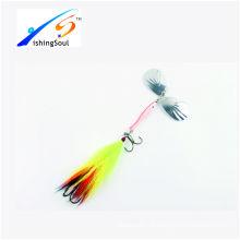 SPL032 barato pesca tackle spinner lâminas de pesca isca com dois ganchos