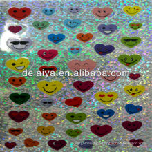 cartoon laser sticker for heart