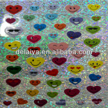 etiqueta do laser dos desenhos animados para o coração