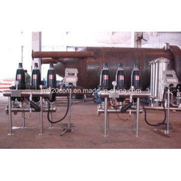 Filtro automático de disco de disco de água de aço inoxidável para tratamento de água de irrigação