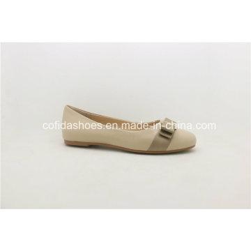 2017 nuevos zapatos de cuero planos de las mujeres de la bailarina de la manera