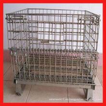 800 * 600 * 640mm galvanizado jaulas de palets de malla de metal