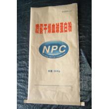Sac en papier Kraft recyclable à l'humidité PP laminé pour poudre d'albumine