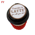 Strong adhesive round stickers for coffee cup and lid