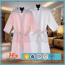 80% Cotton 20% Polyester Waffle Bathrobe For Hotel / Spa