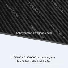 UAV Alta Qualidade 4.0x400x500mm 300mm * 300mm de fibra de carbono placas de fibra de vidro