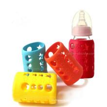 Manga de botella de bebé de silicona antideslizante BPA-Libre personalizado