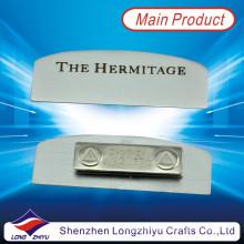 Placa de identificación magnética grabada de metal para la empresa