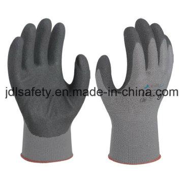 Luva de segurança de poliamida com nitrilo Sandy revestimento (N1558)