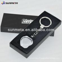 Porte-clés en cristal sublimation BSK02 fabriqué en Chine